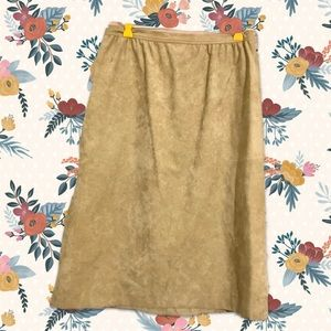 Vintage long suede Abe Schrader skirt